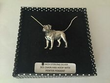 D15 Rottweiler on a 925 sterling silver Necklace 18 inch chain