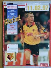 Watford v Bristol City 1996/97 Auto Windscreens Shield programme
