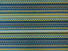 MOSHI BLUE H69 CIRCLES MOROCCAN CURTAIN FABRIC RETRO AFRICAN WOVEN AZTEC