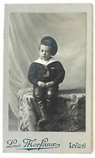 CDV PHOTO LOUIS MORFAUX à LYON ENFANT COSTUME MARIN L393
