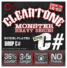 Cleartone Monster 9460 Nickel Plated Electric Guitar Strings 12-60 drop C# gauge