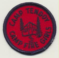 Vintage Camp Fire Girls Camp Tendoy Idaho Patch