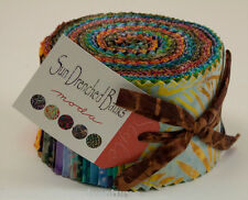 "Moda FABRIC Jelly Roll ~ SUN DRENCHED BATIKS ~  40 - 2.5"" strips"