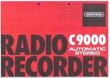 Grundig manual de instrucciones para C 9000 Automatic