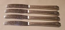 4  - Wm Rogers  - IMPERIAL  - H H Grille Viande DINNER KNIVES - c1939