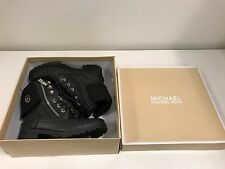 MICHAEL KORS GIRL DONNA BLACK LACE UP BOOTS Combat Style BOOTIES SHOES SIZE 2