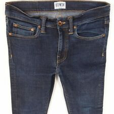 Mens EDWIN ED88 Stretch Super Slim Skinny Blue Jeans W32 L34