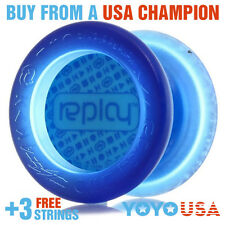 YoYoFactory Replay Responsive Beginner Yo-Yo - Blue + FREE DVD + FREE STRINGS