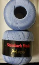 STEINBACH WOLLE MAXI MERCERIZED COTTON LACE YARN 100g 1 BALL ARTIC BLUE (17I)