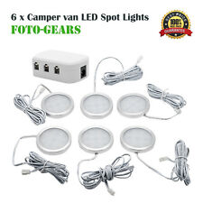 6x 12V Interior LED Spot Light for VW T4 T5 Caravan Camper Motorhome Boat Light