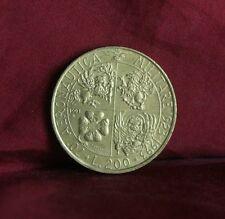 200 Lire 1993 Italy World Coin Italiana Military Auiation