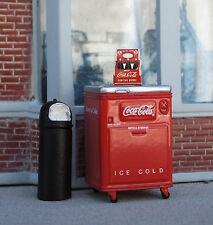 Danbury Mint Coca Cola 6 Pack w Ertl Coke Chest & Trash Can 1/24 G Diorama Items