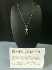 Punto luce in oro con diamante e zaffiro  Light gold point diamond and sapphire