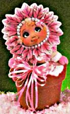 CERAMIC BISQUE SWEET TOT POINSETTIA BABY IN FLOWER POT- READY TO PAINT
