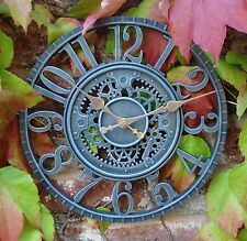 Outdoor indoor Garden Wall Clock  Hand Painted church clock 30cm 1087