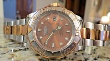 Invicta Automatic Men's Watch Rose Gold Silver Wristwatch Miyota Movt 40mm