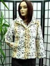 $SAMPLE SALE! NEW SPOTTED RABBIT FUR JACKET WOMEN SIZE 8-10