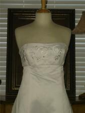New Embroidered Cheap Price Jessica McClintock IVORY Wedding Dress Strapless 8