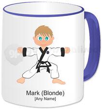 Personalised Martial Arts Mug- Tang Soo Do Boy- Blue Handle