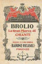 W5280 BROLIO la gran marca di Chianti - Pubblicità 1927 - Publicitè
