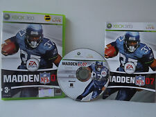 Madden NFL 07 Game XBOX 360 Complete with record