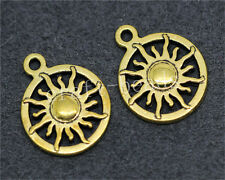 20pcs Antique Gold Beautiful circular sun Jewelry Charms Pendant 20x16mm