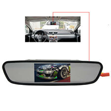 "4.3"" LCD Car Mirror Monitor Display Screen + Backup Reverse Rear View Camera Kit"