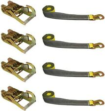 SET OF (4) OEM WHEEL LIFT STRAPS & (4) RATCHETS for DYNAMIC CENTURY VULCAN LIFTS