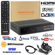 Genuine HD Zgemma Box Twin Tuner Satellite Receiver 2S DVB Free To Air New UK