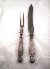 Beautiful Antique Whiting Sterling Silver Carving Set Knife & Fork Monogramed