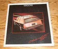 Original 1984 Chevrolet Station Wagon Sales Brochure 84 Chevy Caprice Blazer