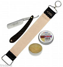 BARBER SALON STRAIGHT CUT THROAT SHAVING RAZOR RASOIR TIRAŞ USTURA GOLENIA BLADE