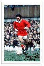 GEORGE BEST MANCHESTER UNITED SIGNED AUTOGRAPH PHOTO PRINT  SOCCER