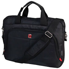 "Swiss Gear Wenger 15.6"" Laptop Messenger Briefcase Shoulder Bag Black SWA0955D"