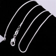 "5 pcs 925 Sterling Silver 20"" 1mm Snake Chain Necklaces~ New"