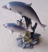 Deko-Figur Delfin Mehrfarbig 9 cm Kunststein