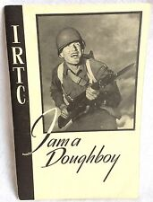 1944 WWII IRTC I Am a Doughboy Training Book Soldier Autographs Vintage