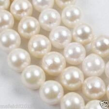1 Strands White Saltwater 7-8mm Akoya Pearl Round Loose Beads 15""