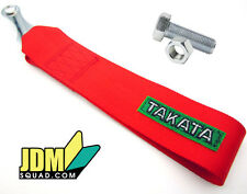 Takata Tow Strap RED Takata Racing JDM Ribbon - FREE Shipping