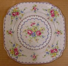 """Royal Albert Petit Point 6 1/8"""" Square Bread & Butter Plates Made in England"""