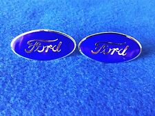 STEP PLATE FORD OVAL EMBLEM  ONE PAIR