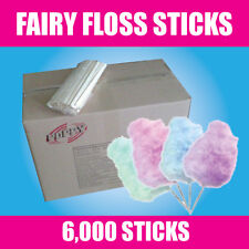FAIRY FLOSS STICKS - box of 6000 - Suit all machines - 17 years experience