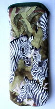 BN- ZEBRAS  ALL OVER  -GLASSES CASE ideal small gift
