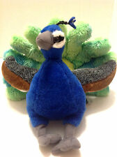 PEACOCK PLUSH STUFFED ANIMAL VERY UNUSUAL GREAT CONDITION LOVEY WILD REPUBLIC