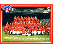 2011 AL CHAMPIONS TEXAS RANGERS 8X10 TEAM PHOTO BASEBALL BELTRE NAPOLI CRUZ