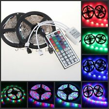 10m (2x5m)3528 SMD RGB Flexible LED Light Strip 600LEDs +44 Key IR Controller