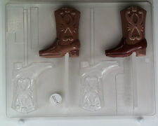 COWBOY BOOT LOLLIPOP CHOCOLATE CANDY MOLD PARTY FAVORS EVENTS DERBY