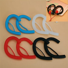 2Pairs Silicone Ear Hooks Clip Holder Loop For 1.5mm-2.0mm Round Line Earphone