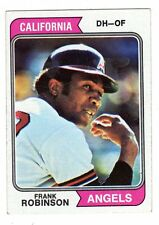 1974 Topps #55 Frank Robinson - California Angels, Near Mint Condition.