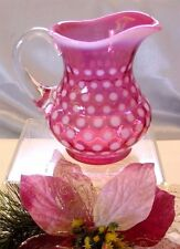 "FENTON GLASS""MINT-VINTAGE~60s""CRANBERRY OPALESCENT""POLKA DOT""PITCHER/JUG/CREAMER"